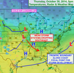 Cold air loading up over Canada will move south over the Finger Lakes this weekend. Click image to enlarge.