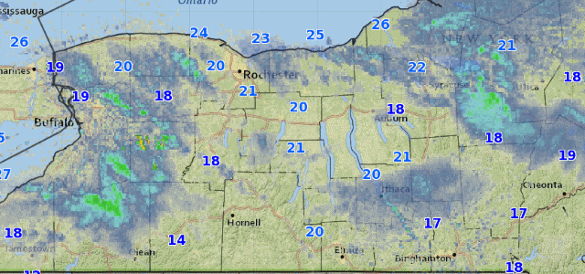 Lake effect snow this morning will dissipate as winds become less favorable for snow development.