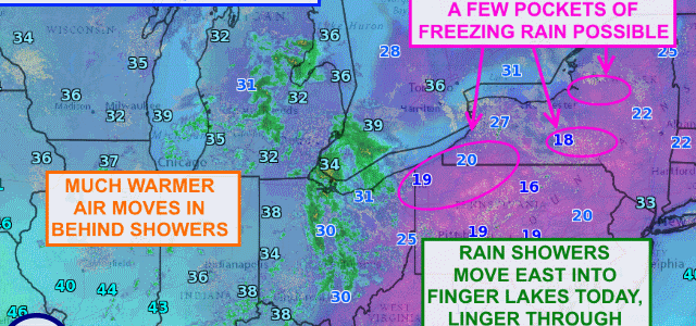 Warmer air finally returning to the Finger Lakes