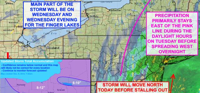 Tuesday morning storm updates & forecast adjustments