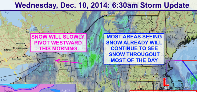 Winter Storm Ramping Up: Wednesday Morning Update