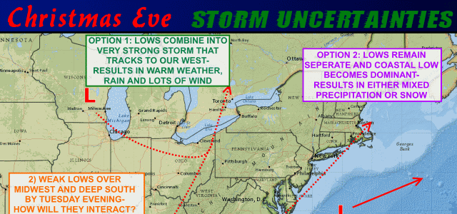 First look at the Christmas Eve storm