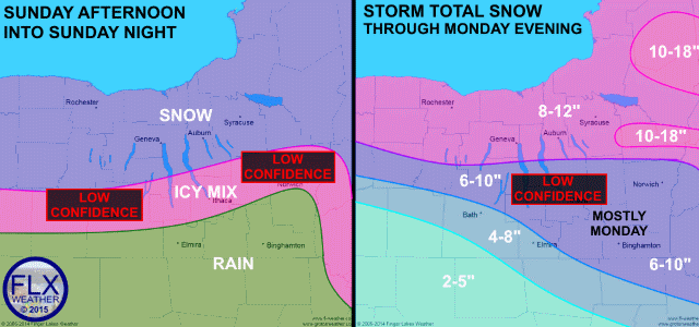Complex, long duration winter weather event starts Sunday