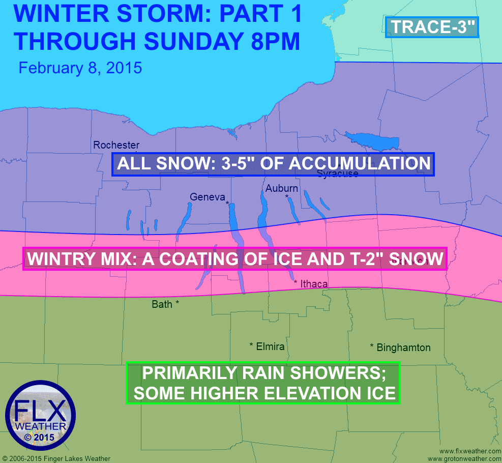 three maps to describe winter storm impacts in the finger