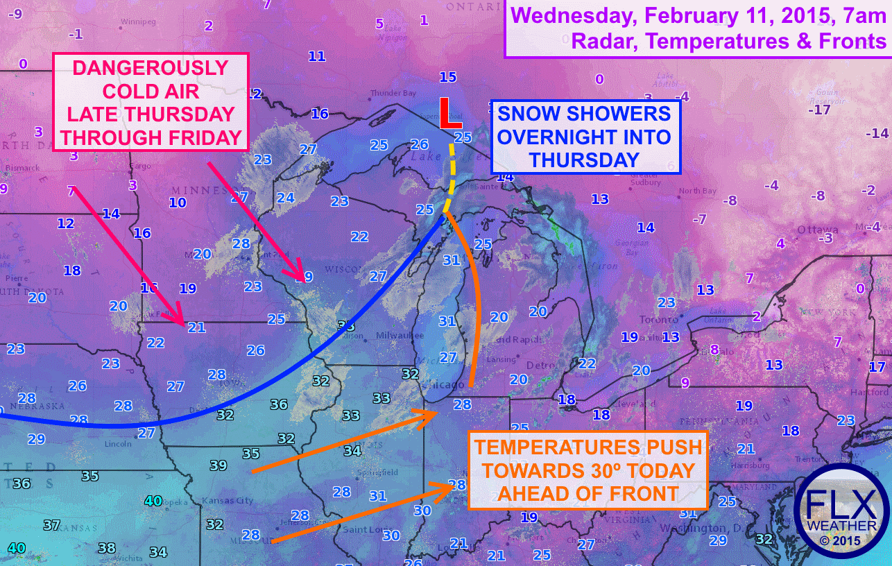 An arctic cold front will cross the Finger Lakes region on Thursday, ushering a stretch of cold air that will last through the weekend and could challenge even the coldest weather from last winter.
