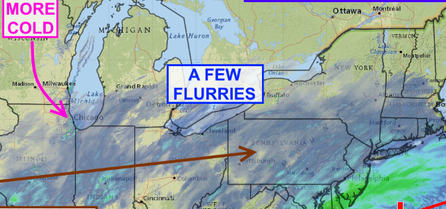 Flurries on Thursday before a sunny Friday & Saturday