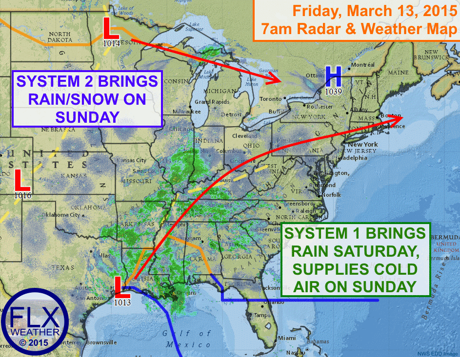 A pair of storm systems will impact the Finger Lakes this weekend with rain and even some snow.