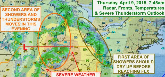 More rain, thunder for FLX Thursday evening