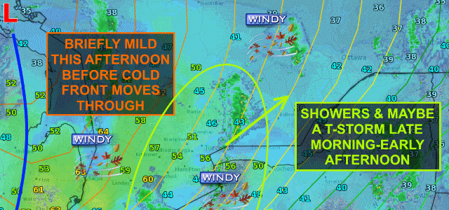 Cold front stabilizes atmosphere this afternoon