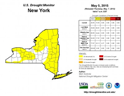The U.S. Drought Monitor classifies much of the region as 'Abnormally Dry'. The dry conditions and hot temperatures will continue to cause a serious risk of brush fires. Click to enlarge.