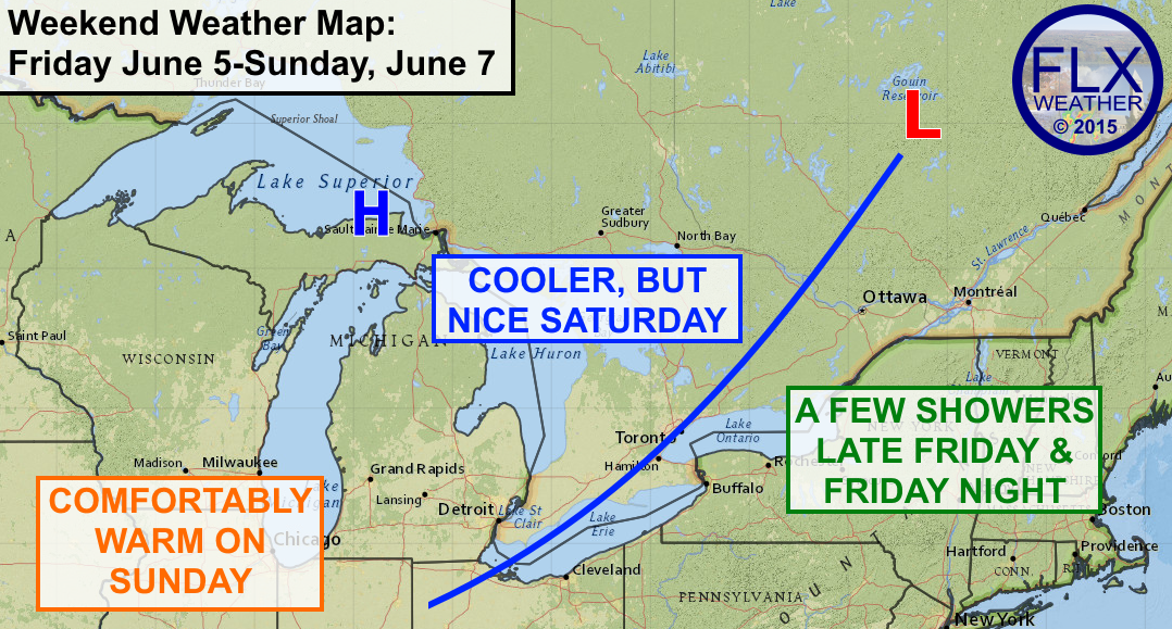 A cold front will bring a few showers to the FLX late Friday and Friday night, but the weather should be great the rest of the time through the weekend.