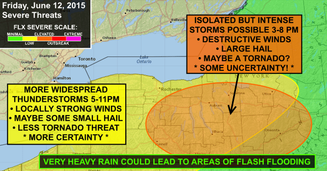 Severe thunderstorm and flash flooding possible Friday in the FLX