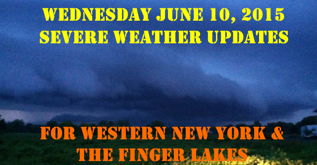 Live updates on the potential for thunderstorms  tonight across western New York and parts of the Finger Lakes.