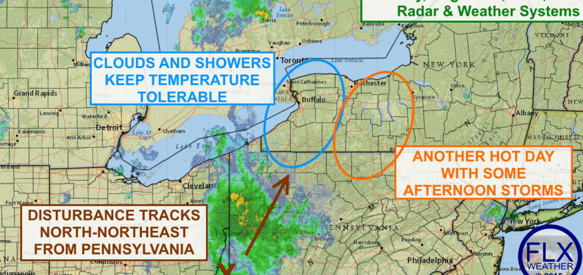 Disturbance brings storms to FLX this afternoon