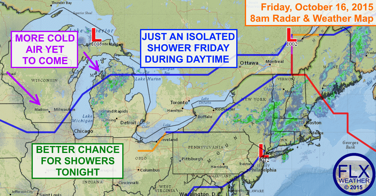 Cold air will continue to deepen over the next couple of days as numerous cold fronts cross the region.