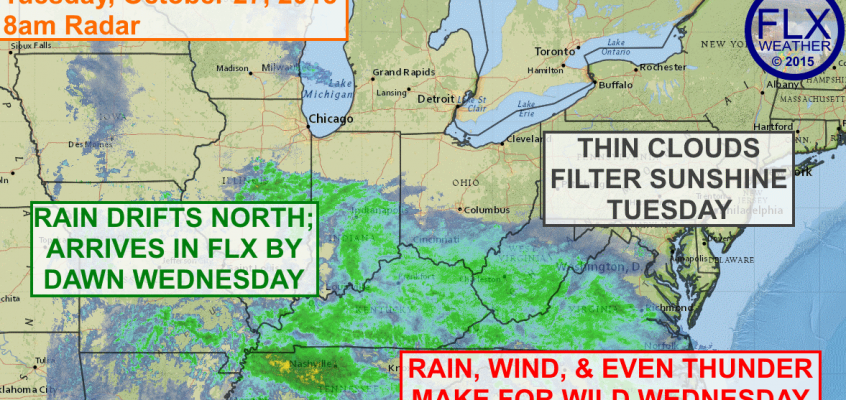 Wild weather awaits for Wednesday