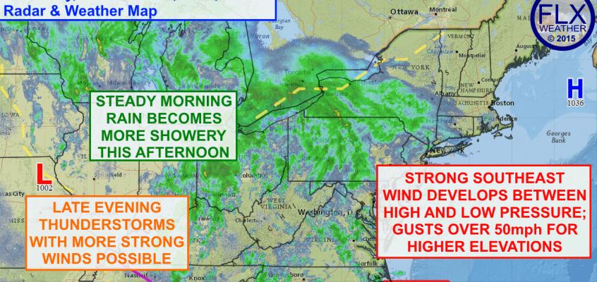Windy, wet Wednesday for Finger Lakes