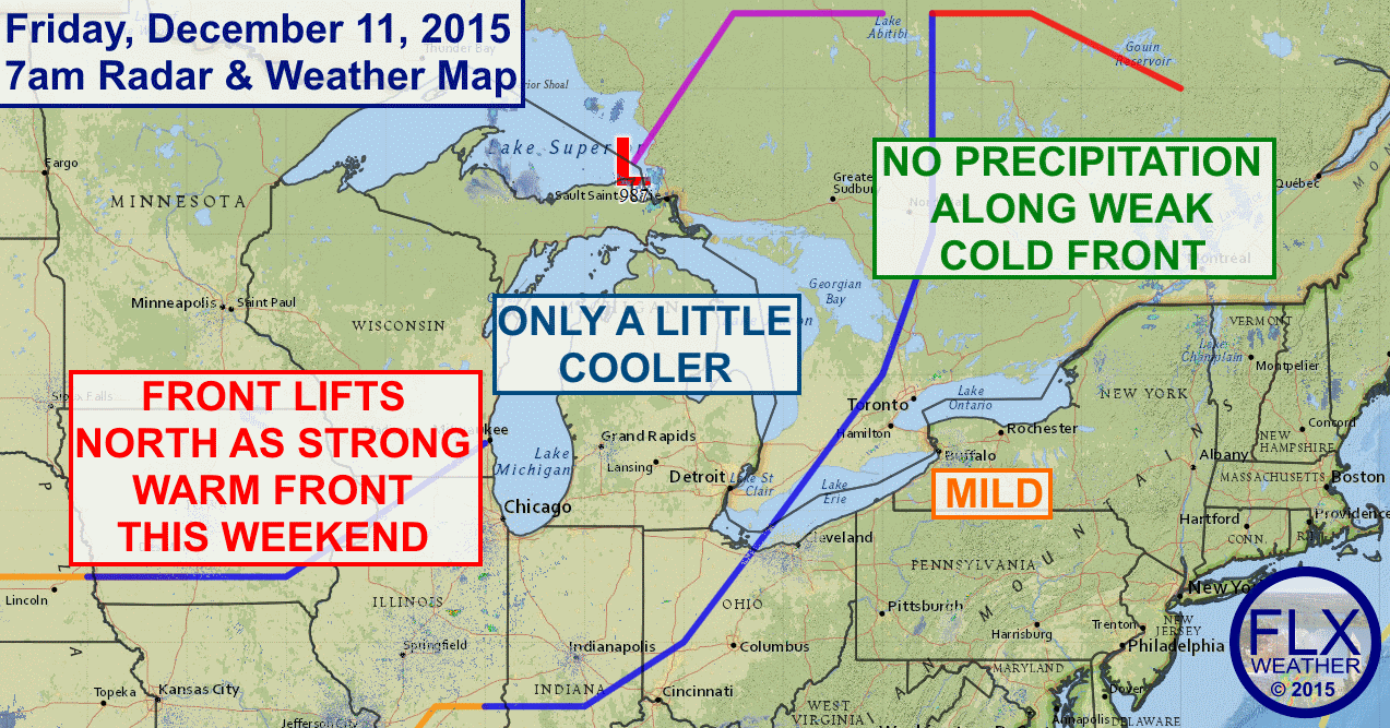 Extremely warm weather for December will settle into the Finger Lakes for the weekend and continue into next week.