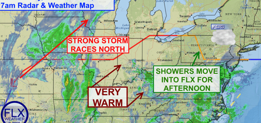 Warm front ushers in brief shot of record warmth