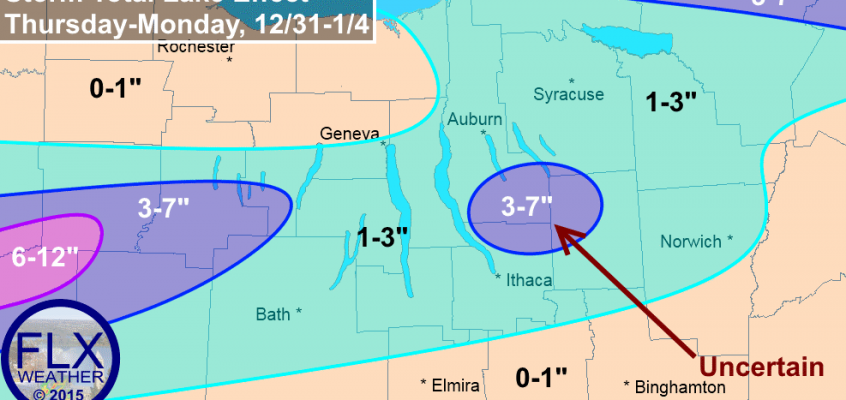 Lake effect flurries and squalls Thursday through Monday