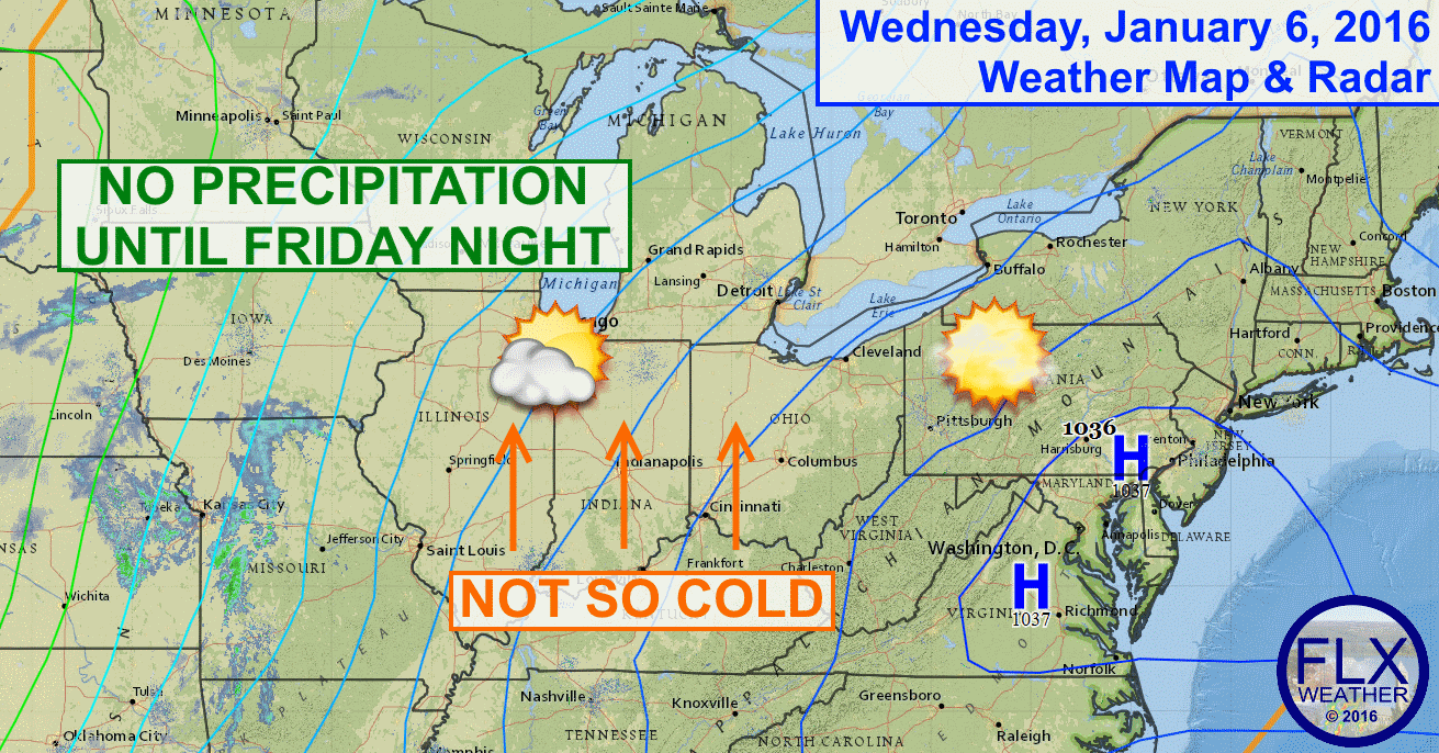 Sunny skies and an increasingly southerly flow will help temperatures moderate across the Finger Lakes.