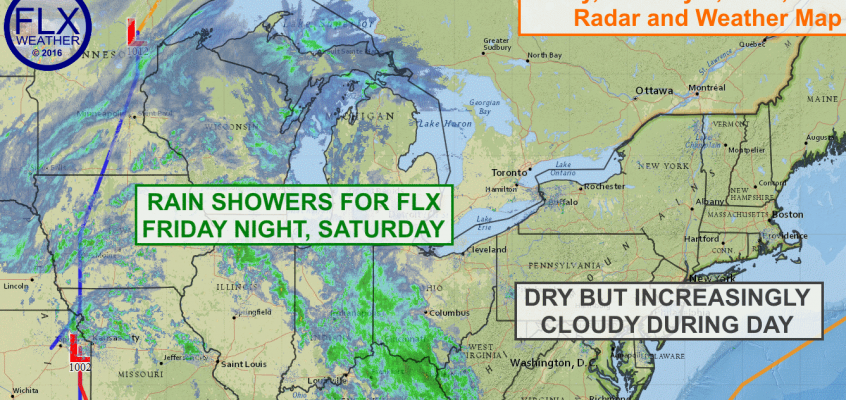 Active weekend weather for FLX