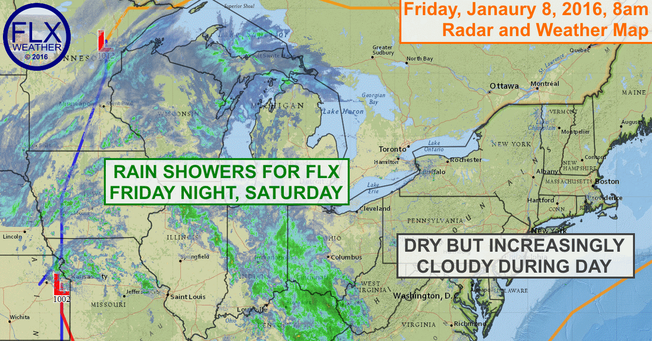 Scattered rain showers will move into the FLX Friday night and Saturday. Heavier rain is expected early Sunday.