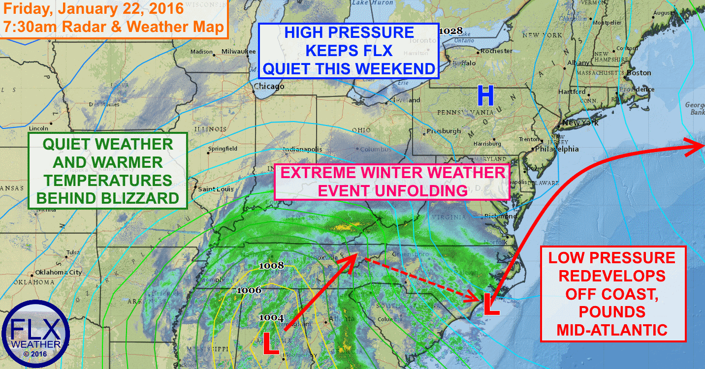 High pressure will keep the Finger Lakes quiet this weekend,  with no precipitation expected.