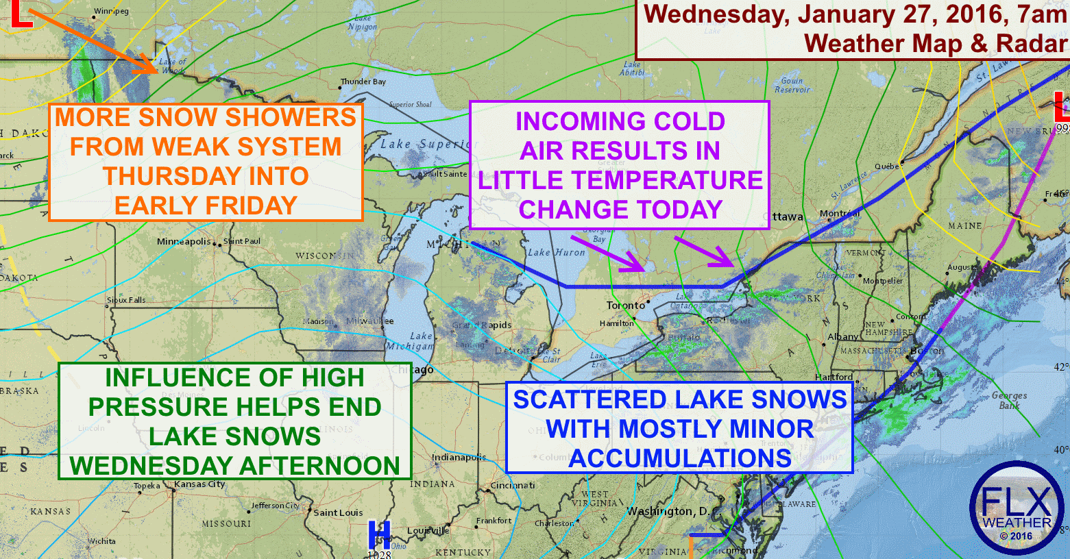 The Finger Lakes will have some chances for minor snow accumulations over the next few days.