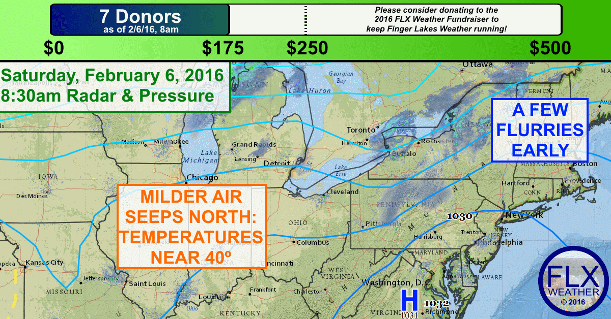Temperatures will return to near 40 degrees on Saturday. To donate to the 2016 FLX Weather Fund Raiser, click the image!