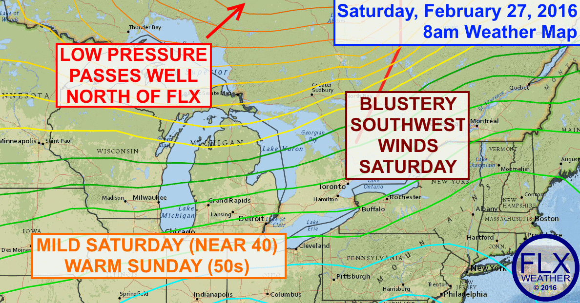 Mild weather will build into the Finger Lakes for the final weekend of February.