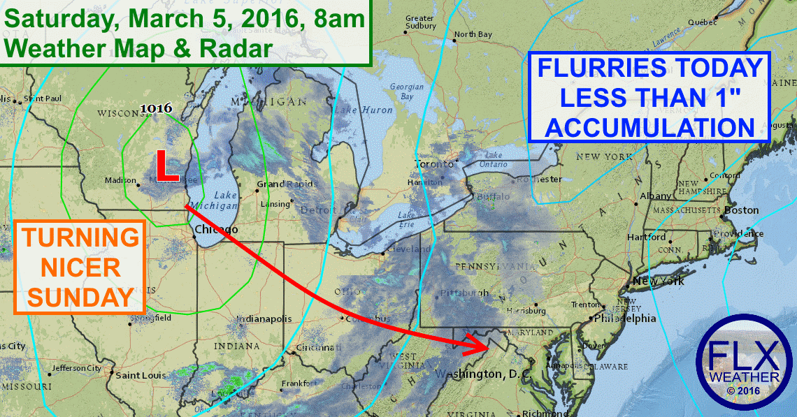 Flurries will bring a coating of snow to the Finger Lakes on Saturday, but much warmer weather is only a couple days away.
