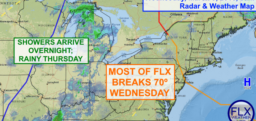70 Degrees in the Finger Lakes Wednesday