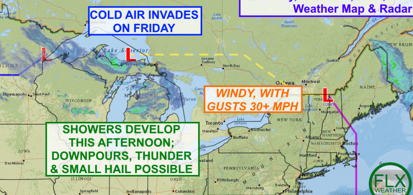 Unsettled, windy Thursday leads to cold air invasion