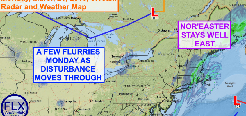 A few flurries Monday across the Finger Lakes
