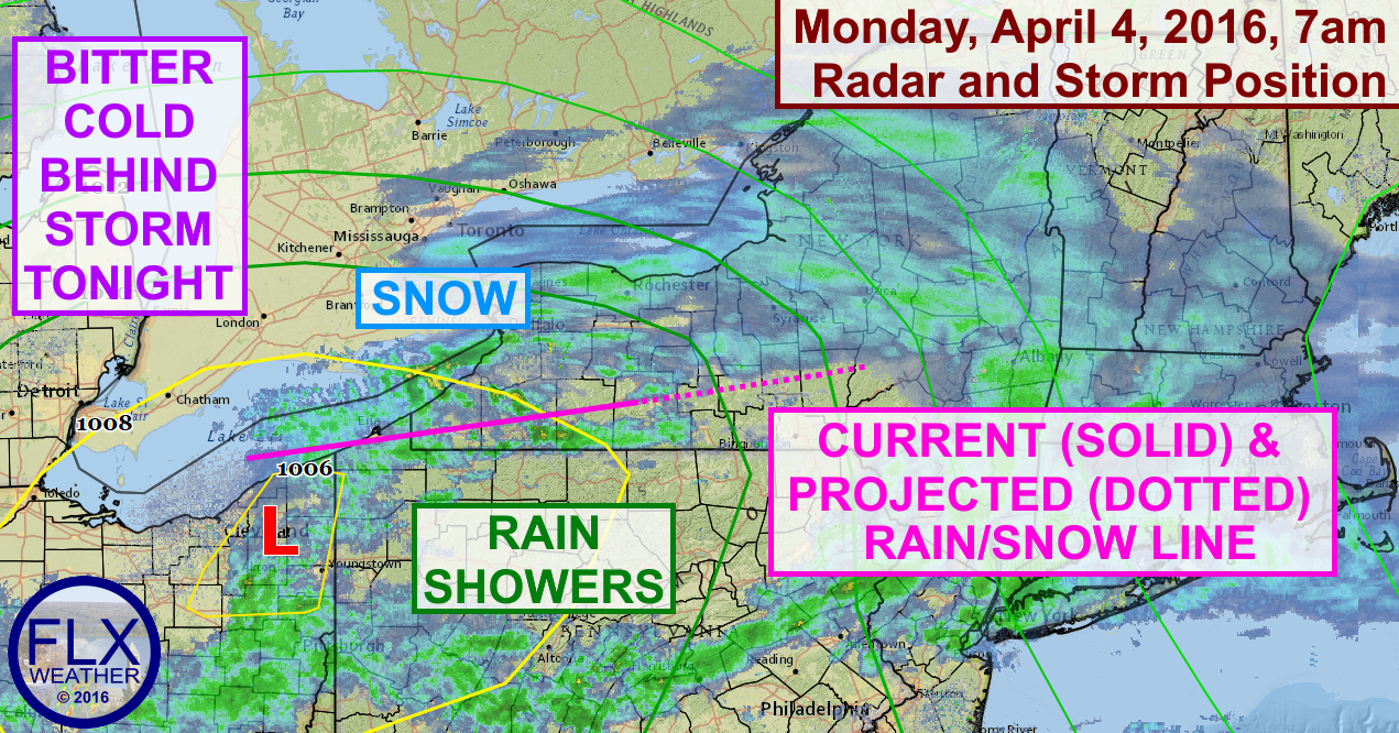 Snow and a little rain will continue across the Finger Lakes region through Monday morning.