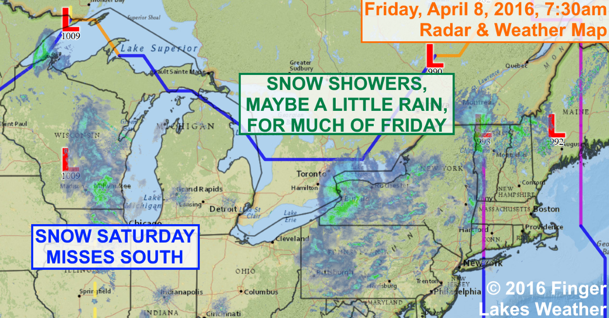 Snow, maybe mixing with a little rain, will persist through much of Friday.