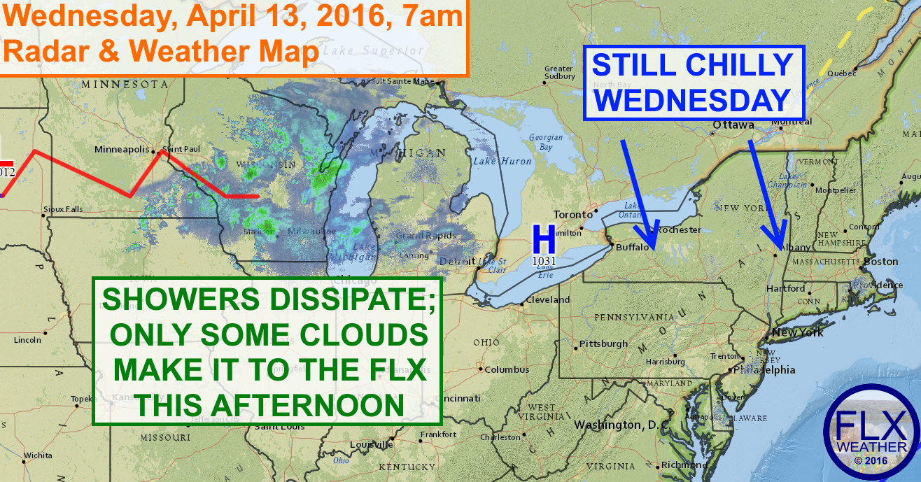 A long stretch of dry and gradually warming weather will start on Wednesday.