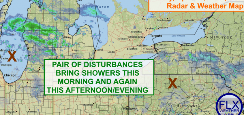 Showers early and late Friday in the Finger Lakes