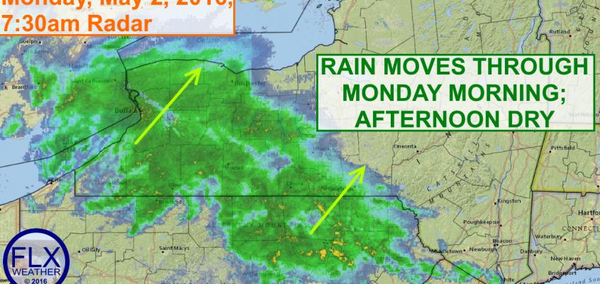 Rainy Monday Morning kicks off cool, cloudy week