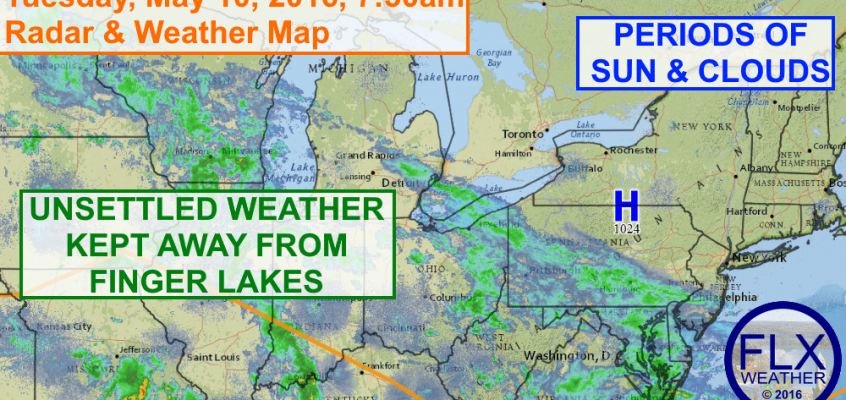 High pressure keeps rain away from Finger Lakes