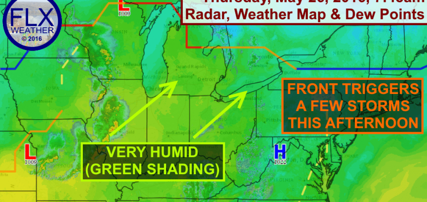 Thunderstorms possible as warm front moves through Finger Lakes