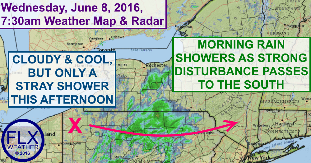 Cold air and gusty winds will move in behind a batch of showers this morning.