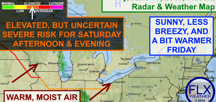 Nice weather Friday, but elevated severe risk Saturday