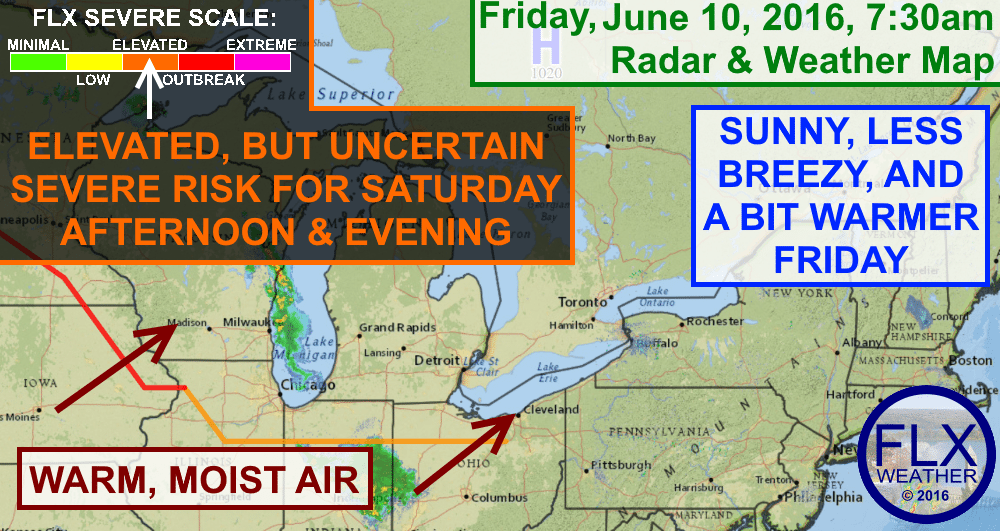 Friday will be nice across the Finger Lakes, but the chance for severe thunderstorms remains for Saturday.