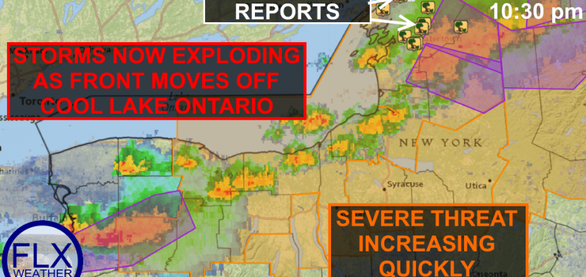 Severe thunderstorm watch for northern Finger Lakes; Radar & Live Updates.