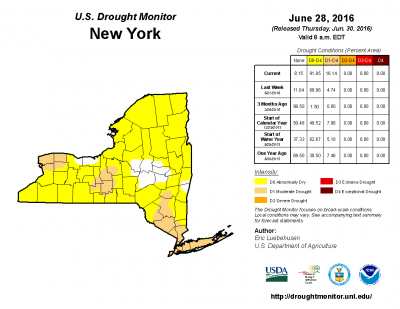 Parts of the Finger Lakes have been upgraded to a Moderate Drought after another dry week.