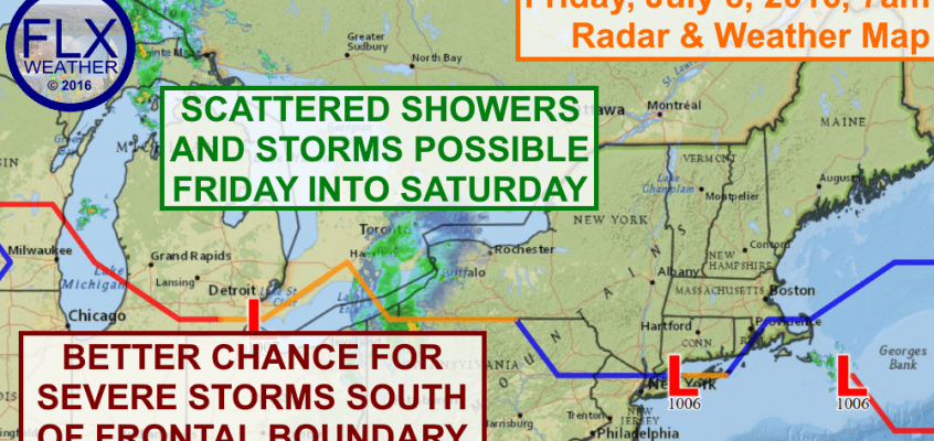 Some areas will get some much needed rain from showers and thunderstorms.
