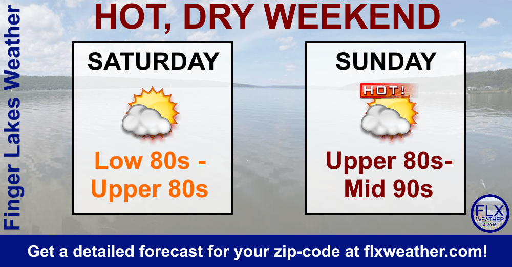 finger lakes weekend weather forecast