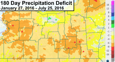 finger lakes drought summer 2016 precipitation deficits 180 days